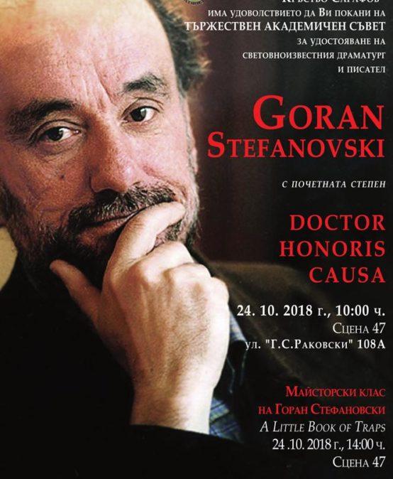 Doctor Honoris Causa – Goran Stefanovski