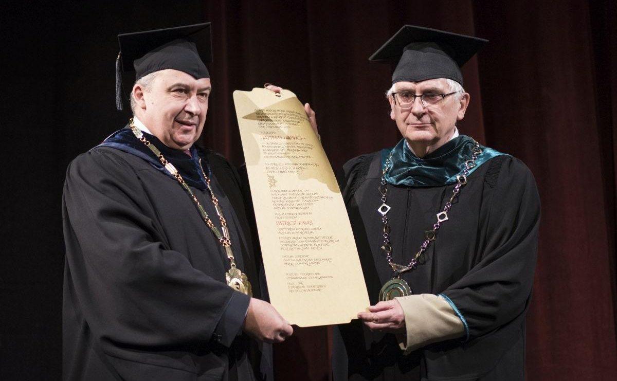 Проф. Патрис Павис, Doctor Honoris Causa на НАТФИЗ
